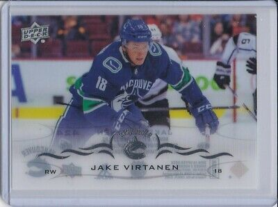 2018-19 Upper Deck Series 2 CLEAR CUT BASE JAKE VIRTANEN N.424