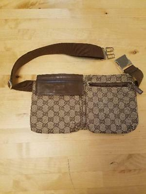 86f5d596c1c08 GUCCI Waist Pouch Belt Bum Bag Fanny Pack Brown Vintage Used from Japan