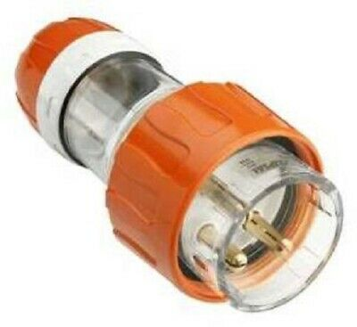Clipsal 56-SERIES STRAIGHT PLUG 250V 3-Round Pins, Resistant Orange- 20A Or 32A