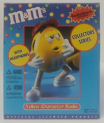 m&m's Yellow Character Radio With Headphones Collectors Series