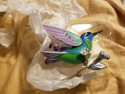 2018 Hallmark Mystery Repaint Ornament Hummingbird Surprise Greeen/Blue NIB NEW