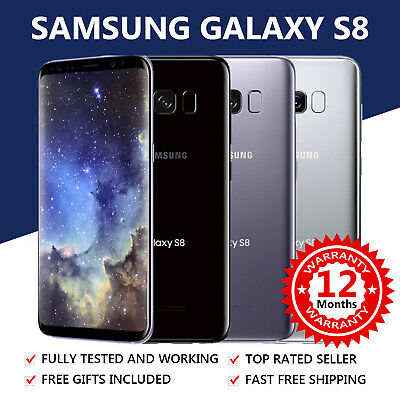 SAMSUNG Galaxy S8 64GB - Various Colours - 4G GSM Unlocked Android Mobile Phone