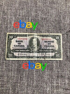 Bank of Canada  1937  $10  Banknote Gordon-Towers