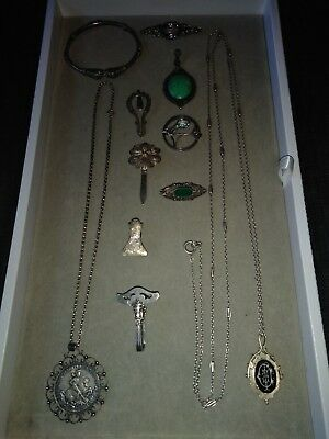 lot of beautiful antique detail sterling silver jewelry