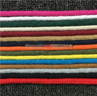 6mm 50m Cotton Core-spun Cords 15 Color Woven Rope String Bag Bags Binding Craft