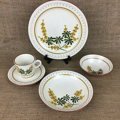 Vintage Stangl Golden Blossom Place Setting For 4 Plus 2 Extra Plates