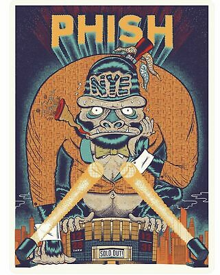 Phish MSG NYE 2017 - 2018 Print by Your Cinema Ryan Besch #d Of 1000 Poster