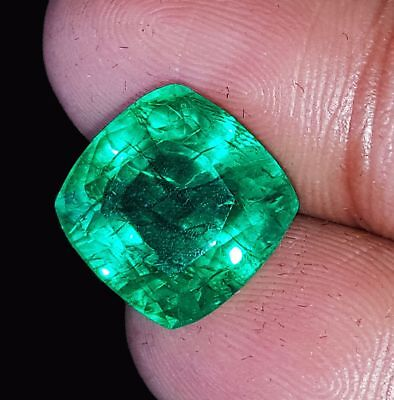 17.70 Ct Natural Green Colombian Emerald Loose Gemstone CERTIFIED