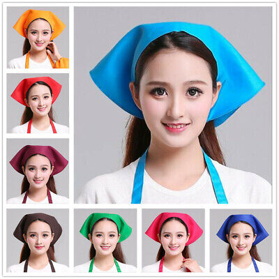 1pcs Solid Color Cap Twill Kitchen Triangle Towel Waiter Cooking Chef Hat