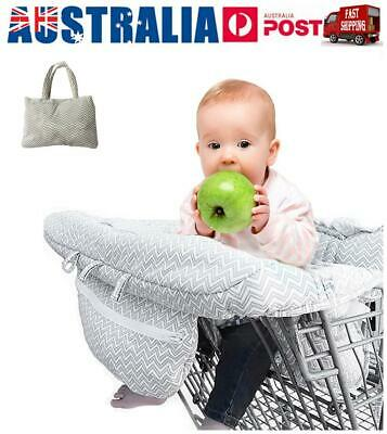 Baby Shopping Supermarket Trolley Cart Cover Seat Child High Chair Protector AU