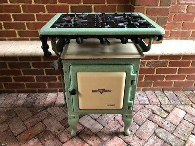 Early Kooka Metters Vintage Gas Stove Oven Kitchen Old Enamel Cast Iron Antique