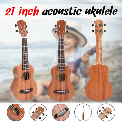 Professional 21 Inch Soprano Ukulele Sapele Wood Hawaii Acoustic Mini Guitar