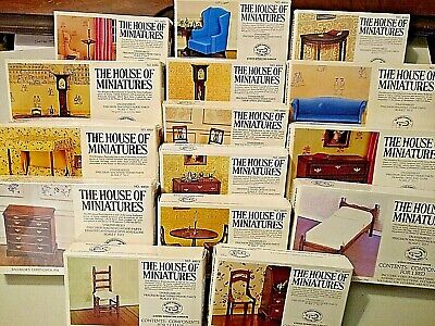 HUGE Lot of 15 Vintage House of Miniatures Kits! Chippendale and Federal Style!