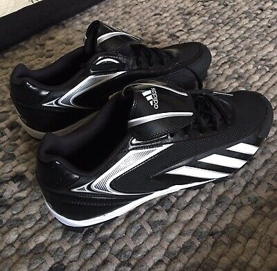 c582170f005e Adidas HotStreak Low Black White-Silver Baseball Cleats G47418 Men s Size  13 NWT