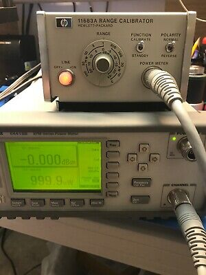 HP / Agilent / Keysight E4418B EPM Series RF Power Meter TESTED With Cable