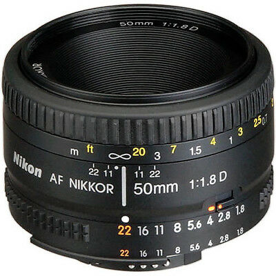 NEW Nikon AF NIKKOR 50mm f/1.8D - UK NEXT DAY DELIVERY