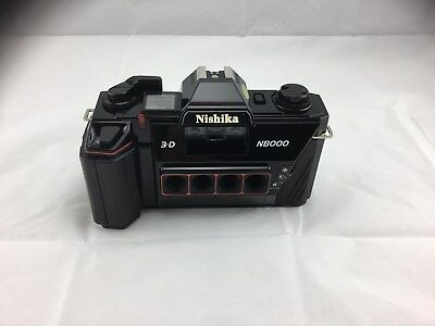 Nishika Vintage 3-D Film Camera N8000 with Exclusive Quadra Lens System