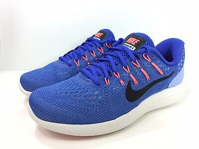 4c6a45aaec2 Nike Lunarglide 8 Women s Running Shoes Medium Blue Black Coral AA8677-406  New