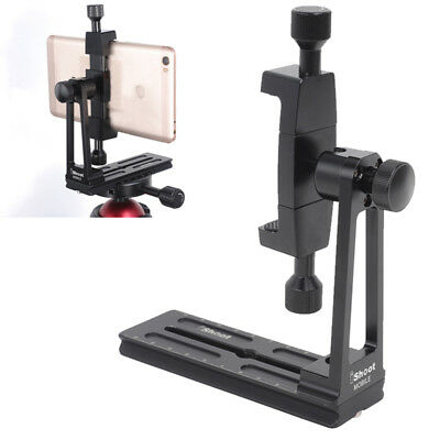 Phone Tripod Mount 360° Rotate Holder Stand Clamp Adapter w/ Quick Release Plate
