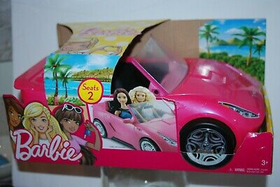 Barbie Glam Convertible Pink Car 2 Seats Mattel
