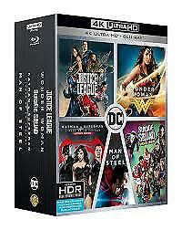 DC 5 Movie Collection 4K Ultra HD + Blu-ray BRAND NEW Justice League + 4 More