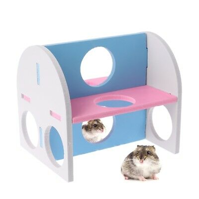 Small Animal Guinea Pig Hamster Gym Exercise Activity Play Toy Pet Wood Toy