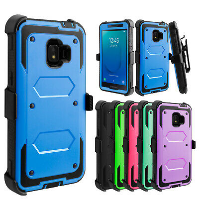 For Samsung Galaxy J2 Core/Dash/Pure Case Belt Clip Holster Hard Stand Cover