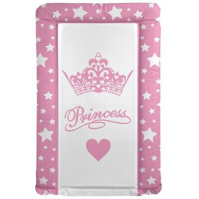 Deluxe Baby Girl Waterproof Changing Mat Little Princess Crown & Stars Pink