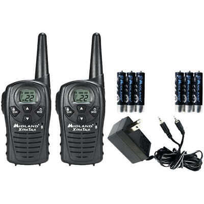 Midland LXT118VP GMRS Rechargeable Battery 18-Mile Radio Walkie Talkie