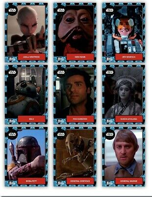 Topps Star Wars Card Trader Complete 9 Card Week 2 Blue Hoard Marathon Set