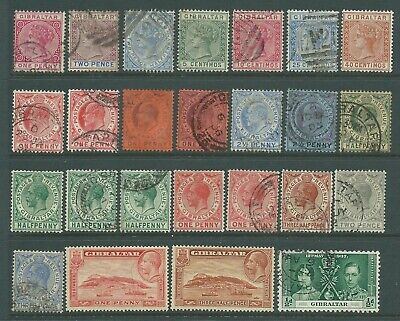 Collection of mixed mint & good used Gibraltar stamps.