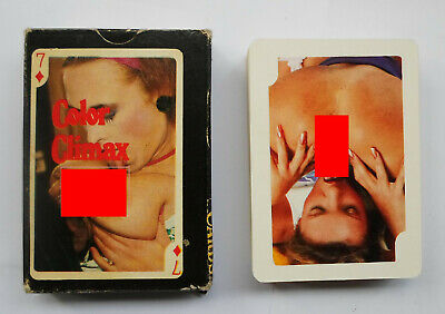 Color Climax vintage Playing Cards with box