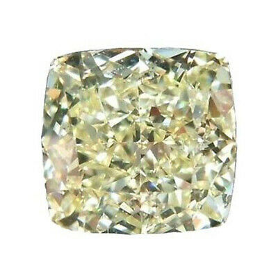 Cushion Loose Moissanite brilliant cut VVS Yellow Stone 1.50ct/ 6.5 mm