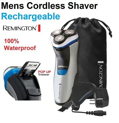 New Remington Cordless Lithium Shaver Rechargeable Mens Wet Dry Electric Razor