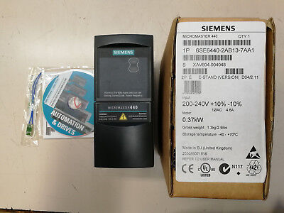 Siemens  6SE6440-2AB13-7AA1  0,37 kW Micromaster440 240V NEW in BOX