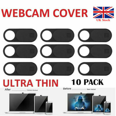 10 Pack Webcam Cover Thin 0.04in Camera Slider Sticker for Laptop Mobile Tablet