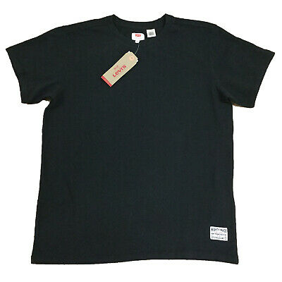 Levis Mens 36018 Mighty Made Crew Neck Short Sleeve T Shirt Tee, Black M