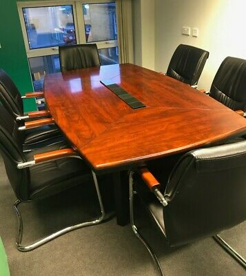 Gecko Boardroom Table and 6 chairs 200cm x 120cm