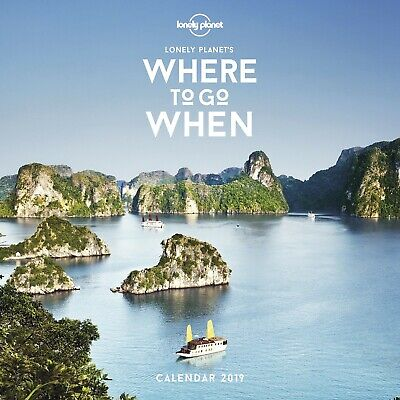 NEW & SEALED 2019 Lonely Planet Where to Go When Wall 2019 Calendar 30 x 30 cm