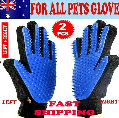 Pet Cat Dog Grooming Cleaning Glove Brush Hair massage Magic Touch Dirt Removel
