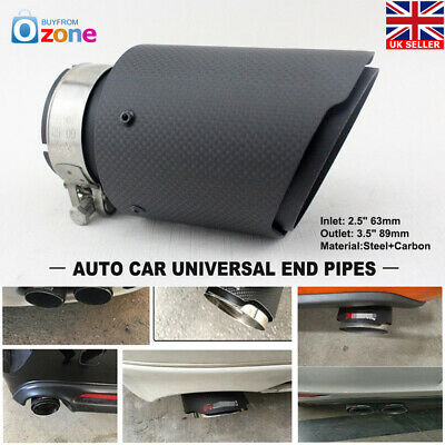 Inlet 63mm to Outlet 89mm Akrapovic Carbon Fiber Pipe Exhaust Muffler Tip