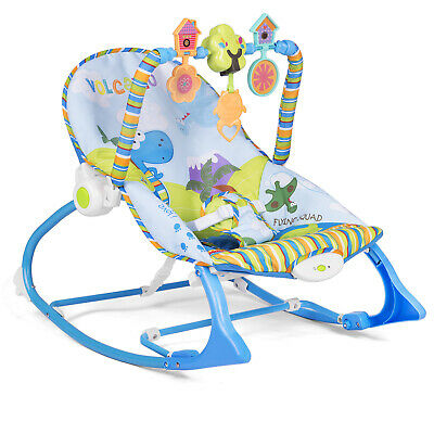 3 in 1 Babywippe Babyschaukel 0+ Vibrationsfunktion Musikfunktion Ricokids