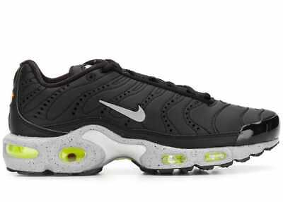 wholesale dealer 252cb 225e0 Nike Air Max Plus Premium Tn Black matte Silver Sneakers Scarpe Uomo  815994-003