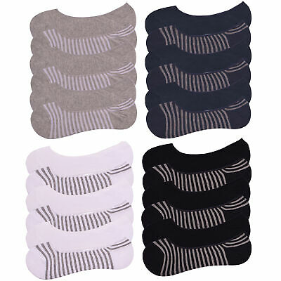 Mens 6 Pairs Invisible Socks Cotton Rich No Show  Hidden Trainer Socks Size 6-11