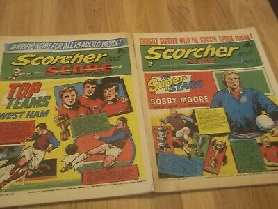 12 X 1970S Scorcher And Score Comics With Great Covers West Ham . Arsenal Etc