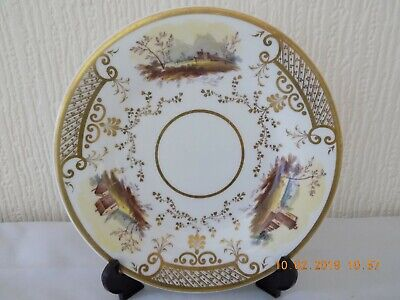 19TH CENTURY HAND PAINTED 9 INCH PLATE c1880-1900 DERBY?