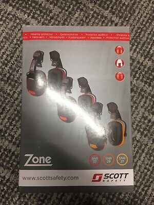 Z1HME Protector Scott Safety Zone 1 Helmet Mounted Ear Defenders SNR 27 Yellow