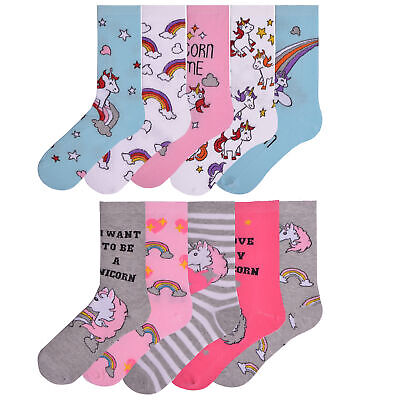 Ladies Womens 5 Pairs Design Socks Novelty Socks Coloured Cotton Rich Size 4-7