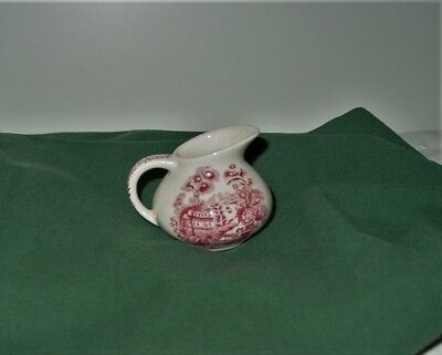 Vintage Creamer Royal Staffordshire Clarice Cliff Tonquin Red Mini  2 1/2""