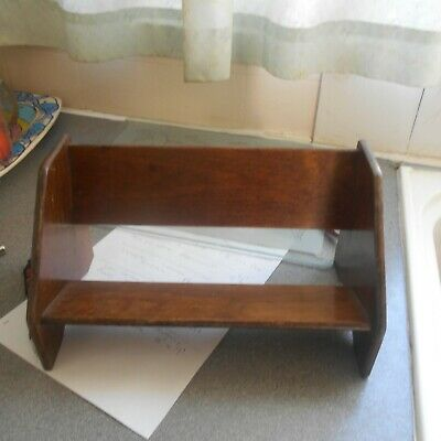 """vintage 40/50s book rack, 12"""" long, 6 1/2"""" tall"""